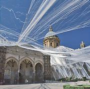 Palermo, feast of Saint Rosalia: the cathedral decorated for the feast. <br /> Palermo, festino di Santa Rosalia: la cattedrale durante il festino