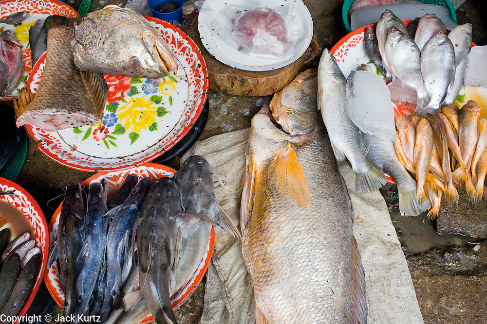 27 FEBRUARY 2008 -- MAE SOT, TAK, THAILAND: Fish for sale in the market in Mae Sot, Thailand.  Photo by Jack Kurtz