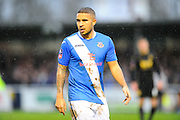 Eastleigh's Jai Reason during the The FA Cup third round match between Eastleigh and Bolton Wanderers at Silverlake Stadium, Ten Acres, Eastleigh, United Kingdom on 9 January 2016. Photo by Graham Hunt.