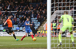Andrew Hughes of Peterborough United scores against Southend United but his goal was disallowed for offside - Mandatory by-line: Joe Dent/JMP - 03/02/2018 - FOOTBALL - ABAX Stadium - Peterborough, England - Peterborough United v Southend United - Sky Bet League One