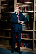 Portrait of Sir Jeffrey Jowell, QC at his office in Central London on February 9th 2012.<br /> Sir Jeffrey Jowell, QC flew to Damascus in July last year for secret meeting with Assad.<br /> <br /> photo Ki Price