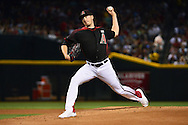 PHOENIX, AZ - MAY 14:  Patrick Corbin #46 of the Arizona Diamondbacks delivers a pitch in the first inning against the San Francisco Giants at Chase Field on May 14, 2016 in Phoenix, Arizona.  (Photo by Jennifer Stewart/Getty Images)