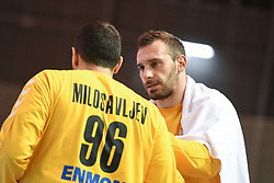 Dejan Milosavljev and Vladimir Cupara of Serbia during friendly handball match between Slovenia and Srbija, on October 27th, 2019 in Športna dvorana Lukna, Maribor, Slovenia. Photo by Milos Vujinovic / Sportida