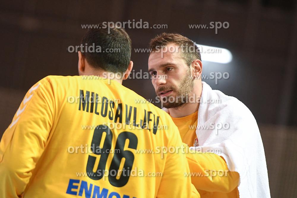 Dejan Milosavljev and Vladimir Cupara of Serbia during friendly handball match between Slovenia and Srbija, on October 27th, 2019 in Športna dvorana Lukna, Maribor, Slovenia. Photo by Milos Vujinovic / Sportida