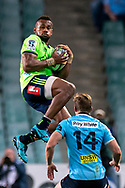 SYDNEY, NSW - MAY 19: Highlanders player Tevita Nabura takes the ball and kicks Waratahs player Cameron Clark in the face, being sent off for the incident at week 14 of the Super Rugby between The Waratahs and Highlanders at Allianz Stadium in Sydney on May 19, 2018. (Photo by Speed Media/Icon Sportswire)