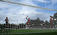 Picture by David Horn/Focus Images Ltd. 07545 970036.04/08/12.Samir Bihmoutine of Chesham United scores an Own Goal  during a friendly match against Arsenal at The Meadow, Chesham.