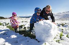 Napier - First snow of the season