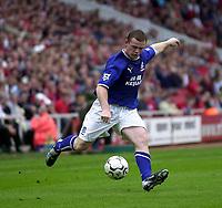 Photo. Glyn Thomas,  Digitalsport<br />Middlesbrough v Everton. Barclaycard Premiership.<br />Riverside Stadium, Middlesbrough. 21/09/2003.<br />Despite the best efforts of Wayne Rooney, Everton were unable to force an equaliser.