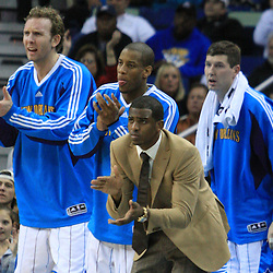 06 February 2009:  during a 101-92 win by the New Orleans Hornets over the Toronto Raptors at the New Orleans Arena in New Orleans, LA.