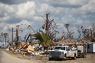 WIdescale destruction in Mexico Beach, Florida following Hurricane Michael.