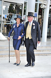 LORD & LADY VESTEY at the Investec Derby at Epsom Racecourse, Epsom Downs, Surrey on 4th June 2011.
