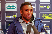 Rangers Striker Jermain Defoe came and gave his views on their disappointing exit from the Scottish Cup, Going down 2-0 at home to Aberdeen in the William Hill Scottish Cup quarter final replay match between Rangers and Aberdeen at Ibrox, Glasgow, Scotland on 12 March 2019.