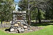 Cobblestone Monument Dedication Marker at Irvine Regional Park