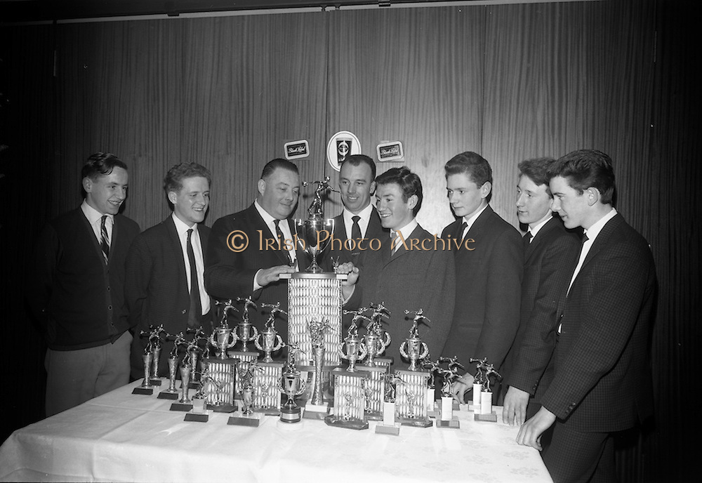28/3/1966<br /> 3/18/1966<br /> 28 March 1966<br /> <br /> Mr. Gerry Cunningham; Mr. John O'Sullivanl Mr. Peter McGlynn; Mr. Joe Hopkins President of the League at the Beamish and Crawford Bowling Presentation in Portmarnock