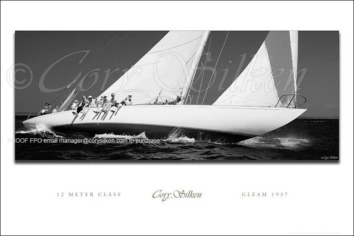 12 Meter Class Gleam custom poster.