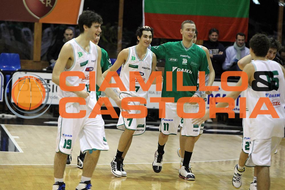DESCRIZIONE : Roma Junior Tournament Eurolega 2010-11 Finale 5-6 Posto Final 5-6- Place Stella Azzurra Roma Benetton Treviso<br /> GIOCATORE : Federico Di Prampero Armin Mazic<br /> SQUADRA : Benetton Treviso<br /> EVENTO : Eurolega 2010-2011 Junior Tournament<br /> GARA : Stella Azzurra Roma Benetton Treviso<br /> DATA : 29/12/2010<br /> CATEGORIA : Esultanza<br /> SPORT : Pallacanestro<br /> AUTORE : Agenzia Ciamillo-Castoria/G.Contessa<br /> Galleria : Eurolega 2010-2011<br /> Fotonotizia : Roma Junior Tournament Eurolega 2010-11 Finale 5-6 Posto Final 5-6- Place Stella Azzurra Roma Benetton Treviso<br /> Predefinita :