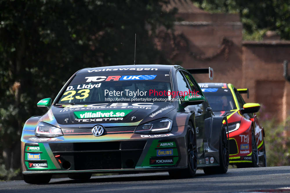 #23 Dan LLOYD (GBR) WestCoast Racing Volkswagen Golf GTI TCR  during TCR UK Championship Race Two   as part of the BRSCC TCR UK Race Day Oulton Park  at Oulton Park, Little Budworth, Cheshire, United Kingdom. August 04 2018. World Copyright Peter Taylor/PSP. Copy of publication required for printed pictures.  Every used picture is fee-liable. http://archive.petertaylor-photographic.co.uk