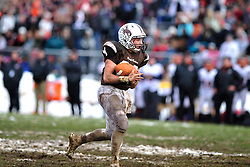 Catasauqua hosted the Northampton High School football team for their traditional Thanksgiving Day game on Nov. 27th, 2014, in Catasauqua, Pa. Crews were called in early Thursday morning to clear the snow from the field and bleachers. (Chris Post | lehighvalleylive.com)