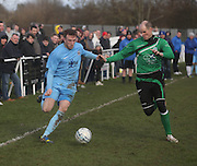 Fairfield's Barry Heggie (blue) duign his side's last 16 Scottish Cup clash with Cleland - Dundee Sunday Amateur Football<br /> <br />  - &copy; David Young - www.davidyoungphoto.co.uk - email: davidyoungphoto@gmail.com