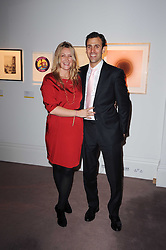 GEORGINA COHEN and JOSHUA SPITZ at the Krug Mindshare auction held at Sotheby's, New Bond Street, London on 1st November 2010.