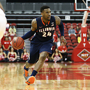 Rayvonte Rice #24 of the Illinois Fighting Illini looks to pass the ball during the NIT First Round game at Agganis Arena on March 19, 2014 in Boston, Massachusetts . (Photo by Elan Kawesch)