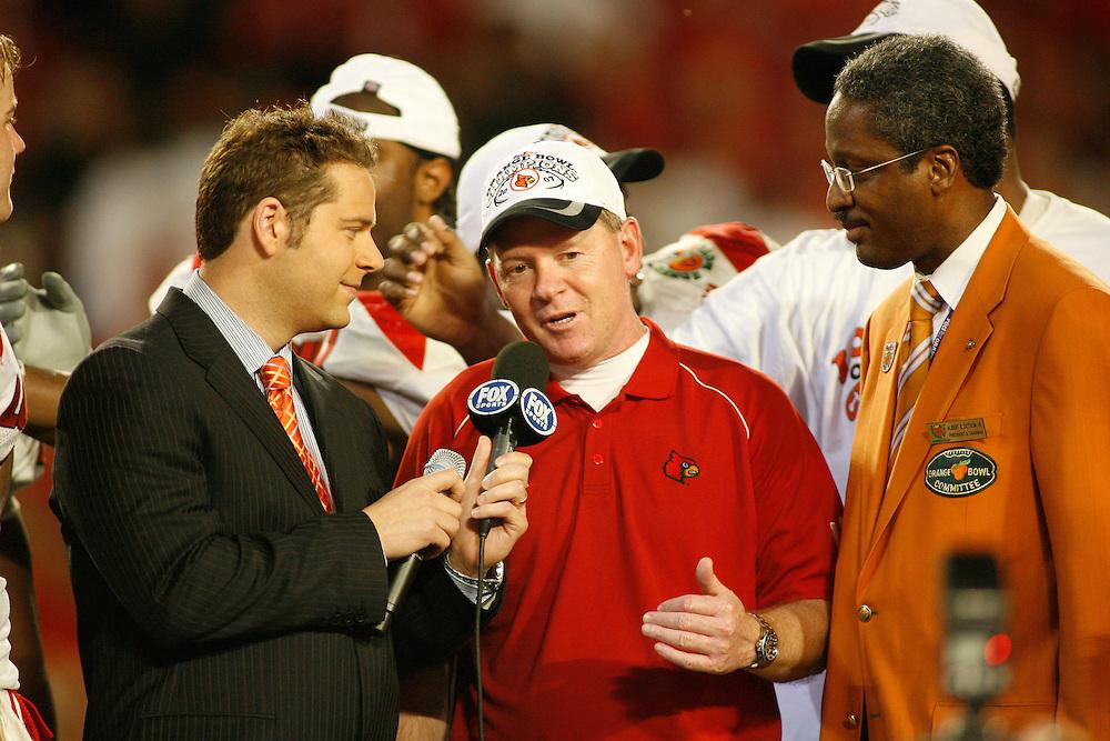 2007 Orange Bowl at Dolphins Stadium in Miami, Florida.