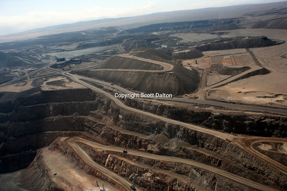 An aerial view of the Shougang iron mine, a Chinese owned and operated mine, just outside of Marcona, in southern Peru, on December 12, 2007. (Photo/Scott Dalton)