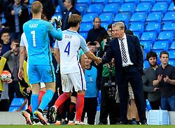England Manager Roy Hodgson shakes hands with Eric Dier - Mandatory byline: Matt McNulty/JMP - 07966386802 - 22/05/2016 - FOOTBALL - Etihad Stadium -Manchester,England - England v Turkey - International Friendly