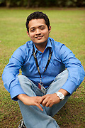 """Sharadh Manjittaya, 25.25-year-old Sharadh Manjittaya is a Bangalorian who always wanted to work for MindTree. """"There is a hype associated with MindTree in college, they have a reputation and the best aspire to work for them,""""says Sharadh who couldn't find a job during the campus recruitment, he worked for two years and a half and waited for the right job posting... and finally got a job at MindTree. """"I had read Shubroto Baghchi's book (The Professional) and was very ispired,"""" he says and adds, """"...this is one place I aspired to work, and here I am - working with the professionals"""" adds Sharadh. .Trained as an electronics engineer, Sharadh found it easy to fit into the MindTree Getonics work culture. He handles LINUS server, and his role is to learn new technology from the team, document the same and teach the same to his colleagues.  """"Learning and teaching has become a major job role for me, and am enjoying it,"""" says Sharadh..Sharadh is a singer. He started singing when he was a young boy, even attended Indian Classical Music classes but couldn't continue with it regularly. Sharadh sang Kannada song, Mungaru Maley (first monsoon rain) and won the first prize at the Music contest.  ..KPN company, Getronics, has off shored multiple business units to the Indian company, Mind Tree in Bangalore, the 'Silicon Valley of India', in the state of Karnataka, India. .Photo by Suzanne Lee for Hollandse Hoogte."""