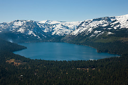 """Fallen Leaf Lake Aerial 1"" - Photograph of Fallen Leaf Lake shot from an amphibious seaplane with the door removed."
