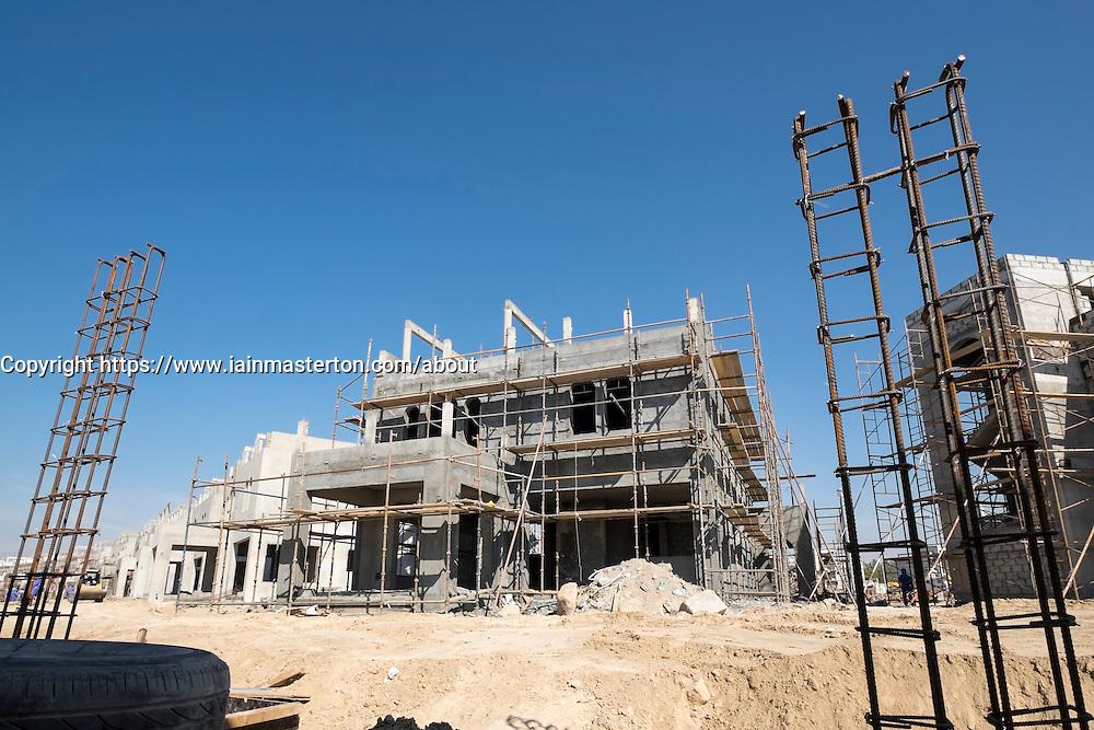 Construction of new luxury villas in Dubai United Arab Emirates