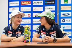 Meta Hrovat and Tina Robnik at press conference of Slovenian Alpine Ski Team, on September 11, 2017 in Smucarska zveza Slovenije, Ljubljana, Slovenia. Photo by Matic Klansek Velej / Sportida