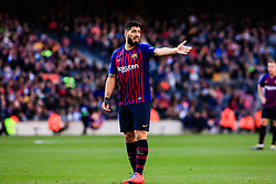 March 30, 2019 - Barcelona, BARCELONA, Spain - 09 Luis Suarez of FC Barcelona during the ''Derby'' of La Liga match between FC Barcelona and RCD Espanyol in Camp Nou Stadium in Barcelona 30 of March of 2019, Spain. (Credit Image: © AFP7 via ZUMA Wire)