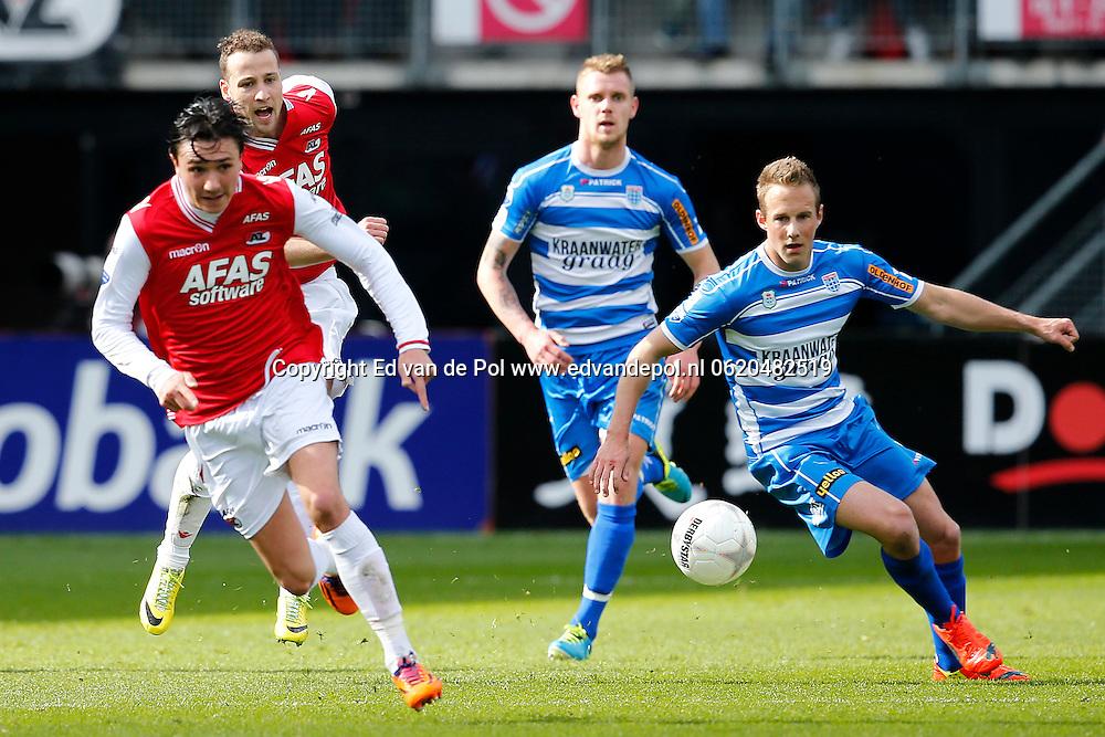 ALKMAAR - 23-03-2014, voetbal, eredivisie, AZ - PEC Zwolle, AFAS Stadion, 2-1,