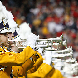 Dec 3, 2011; Atlanta, GA, USA; The LSU Tigers band performs prior to kickoff of the 2011 SEC championship game against the Georgia Bulldogs at the Georgia Dome.  Mandatory Credit: Derick E. Hingle-US PRESSWIRE