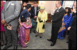 Image ©Licensed to i-Images Picture Agency. 01/12/2016. London, United Kingdom. The Queen Visits Goodenough college. <br /> <br /> Queen Elizabeth II meets members of Goodenough College during a visit on December 1, 2016 in London, England.  Goodenough College is the leading residential community for British and international postgraduate students studying in London<br /> <br /> <br /> Picture by i-Images / Pool