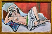 France, Paris (75), zone classée Patrimoine Mondial de l'UNESCO, les Tuileries, le musée de l'Orangerie, Nu drapé étendu par Henri Matisse, 1923 // France, Paris, les Tuileries, museum of Orangerie, Nu drapé étendu by Henri Matisse, 1923