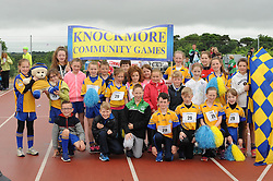Knockmore team lined up at the parade at the Mayo Community Games.<br /> Pic Conor McKeown