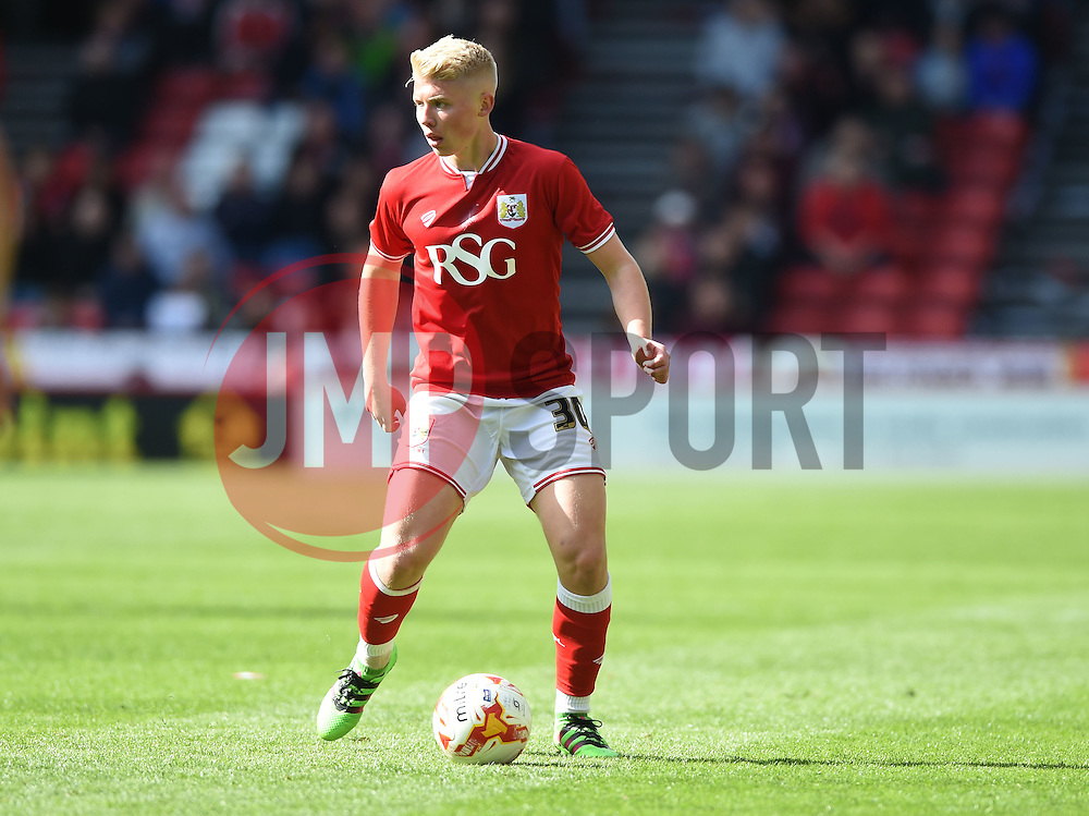 George Dowling of Bristol City makes his debut  - Mandatory by-line: Joe Meredith/JMP - 30/04/2016 - FOOTBALL - Ashton Gate Stadium - Bristol, England - Bristol City v Huddersfield Town - Sky Bet Championship