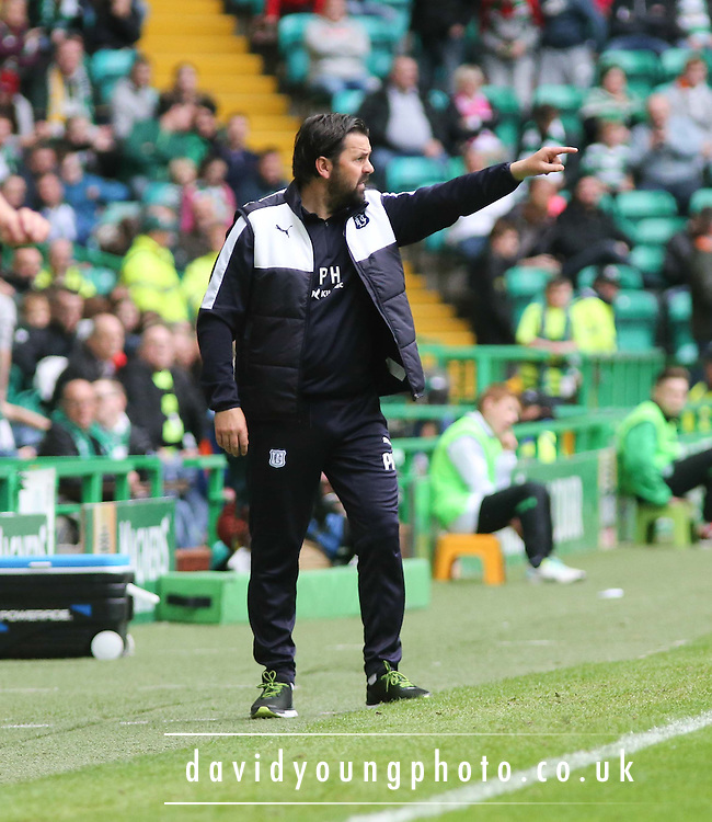 Dundee manager Paul Hartley - Celtic v Dundee - Ladbrokes Premiership at Celtic Park<br /> <br /> <br />  - &copy; David Young - www.davidyoungphoto.co.uk - email: davidyoungphoto@gmail.com