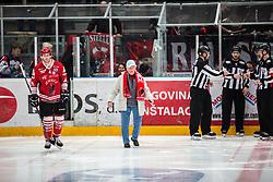 TAVZELJ Andrej  and Boris CEBULJ during Alps League Ice Hockey match between HDD SIJ Jesenice and HK SZ Olimpija on December 20, 2019 in Ice Arena Podmezakla, Jesenice, Slovenia. Photo by Peter Podobnik / Sportida