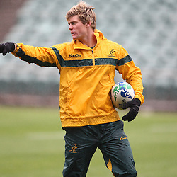 Berrick Barnes during the Team training - Australia,Wednesday 12 October 2011 Australia training session. North Harbour Stadium Stadium Drive Albany, Auckland.<br />  Photographer Steve Haag