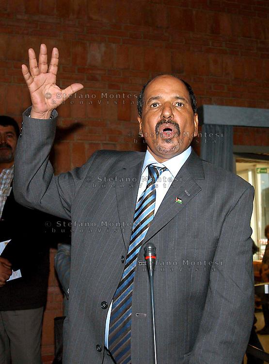 Rome 19 Octobre 2007.Mohamed Abdelaziz  President of the Saharawi Arab Democratic Republic (SADR).33° EUCOCO