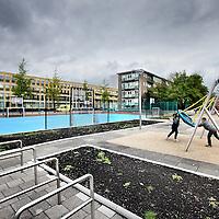 Nederland, Amsterdam , 17 september 2013.<br />  Het Ernest Staesplein in de Kolenkitbuurt heeft een opknapbeurt ondergaan.<br /> Foto:Jean-Pierre Jans