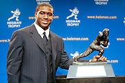 NEW YORK - DECEMBER 10:  Running back Reggie Bush of USC wins the 2005 Heisman Trophy  in New York City, December 10, 2005.