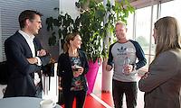 AMSTERDAM - Guido Davio, Tischa Neve, Sjoerd Marijne en Kim Lammers. KNHB Symposium Train de Trainer, voor trainer, coach , begeleider binnen het aangepaste hockey. Dit alles in het Ronald MacDonald Centre in Amsterdam. COPYRIGHT KOEN SUYK