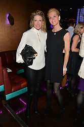 Left to right, ZOE APPLEYARD-LEY and LEIGH BICKFORD at a party in aid of the Youth at Risk charity held at Raffles, 287 King's Road, London on 27th November 2013.