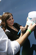 Demi Lovato at The 2008 Arthur Ashe Kids' Day held at The USTA Bille Jean King National Tennis Center on August 23, 2008 in Flushing, NY