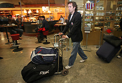 David Rodman at departure of Slovenian national team to Hockey IIHF WC 2008 in Halifax, Canada,  on April 27, 2008 in Airport Joze Pucnik, Brnik, Slovenia.  (Photo by Vid Ponikvar / Sportal Images)