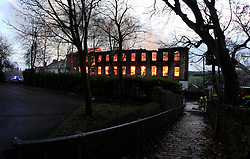 © Paul Thompson Licensed to London News Pictures. 19/11/2015. Thornton, Bradford. Fire at Prospect Mill in Thornton Village. Photo credit : Paul Thompson/LNP